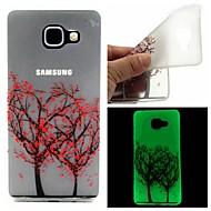 Mert Samsung Galaxy tok Foszforeszkáló / Minta Case Hátlap Case Fa TPU Samsung A7(2016) / A5(2016)