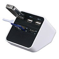 all-in-1 USB 2.0 kortinlukija usb-keskitin 3 * usb + ms / sd / m2 / TF kortinlukija 7 lähtö usb combo - white