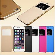Smart näkymä kosketusnäyttö PU nahka tapauksessa iphone 6s 6 plus