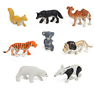 8pcs Animal Action Figures Set Modeling Toys Tiger / lion / camel / polar bear / dogs / Koala / Kangaroo / Anteater