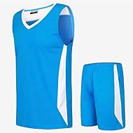 Hauts/Tops / Bas / Shirt ( Rouge / Noir / Vert claire / Pêche / Bleu Ciel ) - Fitness / Basket-ball - Sans manche - Homme
