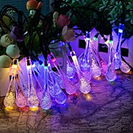 King Ro 40LED Crystal Water Drop Battery String Lights For Outdoor, Gardens, Homes, Wedding, Christmas Party, Waterproof