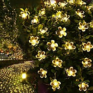 7M 50LED  Solar Fancy Flower String Lights Waterproof Christmas Lights