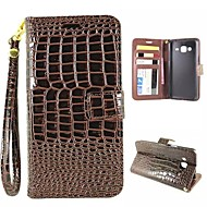 Varten Samsung Galaxy kotelo Lomapkko / Korttikotelo / Tuella / Flip Etui Kokonaan peittävä Etui Geometrinen printti Tekonahka SamsungJ3