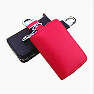 både mænd og kvinder kan holde tværs præget læder bil nøgle taske / bil fjernbetjening pakke