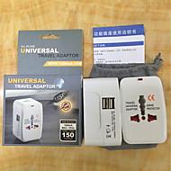 все в один универсальный международный переходника штепсельной вилки 2 USB зарядное устройство порт перемещения мира сети переменного тока