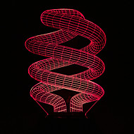 visuell 3d spiral färgskiftande ledde dekoration usb bordslampa färgrik gåva nattlampa