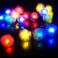 King Ro New 30LED Battery Operated Chuzzle Ball LED Christmas String Lights (KL0071-RGB,White,Warm White)