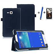 Fashion Top Quality Smart PU Leather Cover For Samsung Galaxy Tab 3 Lite 7.0 T110 Tablet Case+Free Screen Protector+ Pen