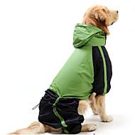 猫用品 犬用品 レインコート レッド グリーン 犬用ウェア 夏 春/秋 カラーブロック 防水 防風