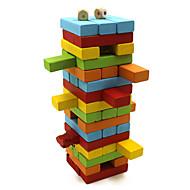 Wooden Colorful Blocks Puzzle Games Domino  Board Games Brain Games