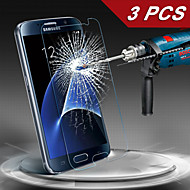 LOGROTATE® Premium Tempered Glass Screen Protector for Samsung Galaxy S7/S6 (3 PCS)