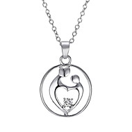 The New Mother's Necklace Mom Zircon Pendant Necklace