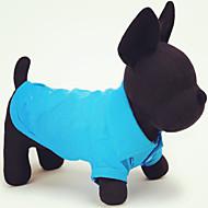 고양이 개 티셔츠 레드 오렌지 옐로우 그린 블루 핑크 강아지 의류 여름 모든계절/가을 솔리드 캐쥬얼/데일리