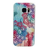 Para Samsung Galaxy S7 Edge Estampada Capinha Capa Traseira Capinha Mandala TPU Samsung S7 edge / S7