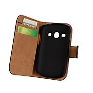 Για Samsung Galaxy Θήκη Πορτοφόλι / Θήκη καρτών / με βάση στήριξης / Ανοιγόμενη tok Πλήρης κάλυψη tok Μονόχρωμη Συνθετικό δέρμα Samsung