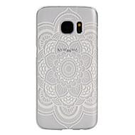 Voor Samsung Galaxy S7 Edge Mat / Transparant hoesje Achterkantje hoesje Bloem PC SamsungS7 Active / S7 plus / S7 edge plus / S7 edge /