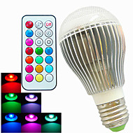 1 pcs SchöneColors E26/E27 9W A60 Dimmable/Remote-Controlled/Decorative 2 Million Colors LED RGB Globe Bulbs AC100-240V