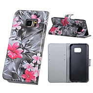 For Samsung Galaxy S7 Edge Wallet / Card Holder / with Stand / Flip Case Full Body Case Flower PU Leather Samsung S7 edge / S7