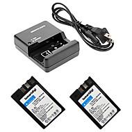 ismartdigi EL9 digitalkamera batteri x2 + o.charger för Nikon D60 / D40 / D40 / D500 EL9