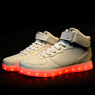 Men's LED Shoes USB charging Athletic/Casual Microfibre/Synthetic Fashion Sneakers/Athletic Black/White