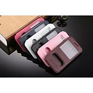 Mert Samsung Galaxy tok Állvánnyal / Betekintő ablakkal / Flip Case Teljes védelem Case Egyszínű Műbőr Samsung J5 / J3