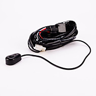 Iztoss Off Road ATV/Jeep LED Light Bar Wiring Harness - 40 Amp Relay ON/OFF Switch