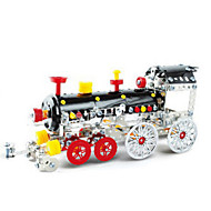 Jigsaw Puzzles 3D Puzzles / Metal Puzzles Building Blocks DIY Toys Train 353pcs Metal Red / Black / Yellow / Silver Model & Building Toy