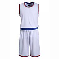 Hauts/Tops / Bas / Shirt ( Blanc / Bleu Foncé ) - Fitness / Basket-ball - Sans manche - Homme