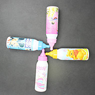 محفظة 5pcs الإبداعي الكرتون زجاجة القلم مصاصة نابض بالحياة من ركلة جزاء الكرة نقطة القلم (نمط عشوائي)