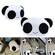 ziqiao 1 par søde dejlige panda mønster autostol hals / hoved pude blød ryg pude hovedstøtte nakkepude
