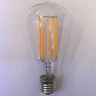 1 sztuka kwb E26/E27 10W 8 COB 1000 lm Ciepła biel / Bursztynowy ST64 edison Postarzane Żarówka dekoracyjna LED AC 85-265 V