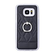 Mert Samsung Galaxy S7 Edge Tartó gyűrű Case Hátlap Case Mértani formák Műbőr SamsungS7 edge plus / S7 edge / S7 / S6 edge plus / S6 edge