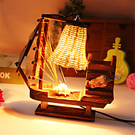 Creative Wood Brush Pot Light  Sailing Lamp Decoration Desk Lamp Bedroom Lamp Gift for Kid
