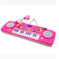 25 hhealth multifunktionelle læring tastatur børnehaveklasse musik oplysning med mikrofon ramdon farve