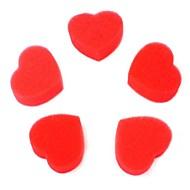 Love Magic Props Sponge Heart Red 5PCS