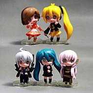 Inne Hatsune Miku PVC (polichlorek winylu) Rysunki Anime akcji Klocki Lalka Zabawka