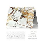 """3 en 1 caso de mármol de cuerpo completo + cubierta del teclado + enchufe del polvo para el aire del macbook 11 """"retina 13"""" / 15 """""""