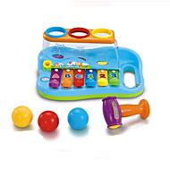 musica del giocattolo di puzzle per bambini in ABS rosso / blu / giallo