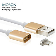 2.4a nye metal magnetisk 8pin usb opladning oplader kabel til Apple iPhone 5 5s 6 6s plus til ipad ipod touch 5 6