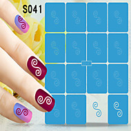 1pcs  New Nail Art Hollow Stickers Heart Star Colorful Picture Designs Nail Art Beauty S041-S050