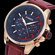 CURREN 男性 軍用腕時計 リストウォッチ クォーツ 日本産クォーツ レザー バンド ラグジュアリー ブラック ブラウン グレー