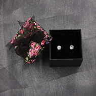 Kolczyki wiszące Cyrkonia Srebro standardowe Cyrkon Cyrkonia Circle Shape Silver Biżuteria Na Ślub Impreza Codzienny Casual Sport 1 para