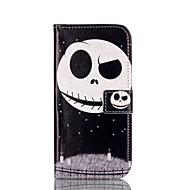 Na Samsung Galaxy Etui Etui na karty / Z podpórką / Flip / Wzór / Magnetyczne Kılıf Futerał Kılıf Czaszka Skóra PU SamsungA5(2016) /