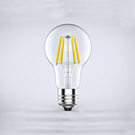 1 pcs  E26/E27  6W 6COB 600 lm Warm White A60(A19) edison Vintage LED Filament Bulbs AC 85-265 V