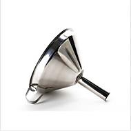 rozsdamentes acélból készült bor olaj kávészűrőn tölcsér + szűrőméret szűrővel konyhai eszköz