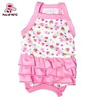 猫用品 犬用品 ドレス レッド ホワイト ピンク 犬用ウェア 夏 春/秋 果物 キュート 誕生日 ホリデー
