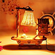 kreativ træ vindmølle lys sejle lampe dekoration bordlampe soveværelse lampe gave til barn