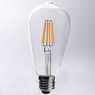 1個 kwbled E26/E27 5W / 7W / 8W 8 COB 750 lm 温白色 ST64 edison ビンテージ フィラメントタイプLED電球 交流220から240 V
