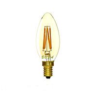E14 2200K-3000K 200-300Lm 220V 3W 4LED Dimmable Retro Imitation Tungsten Filament LED Candle Light